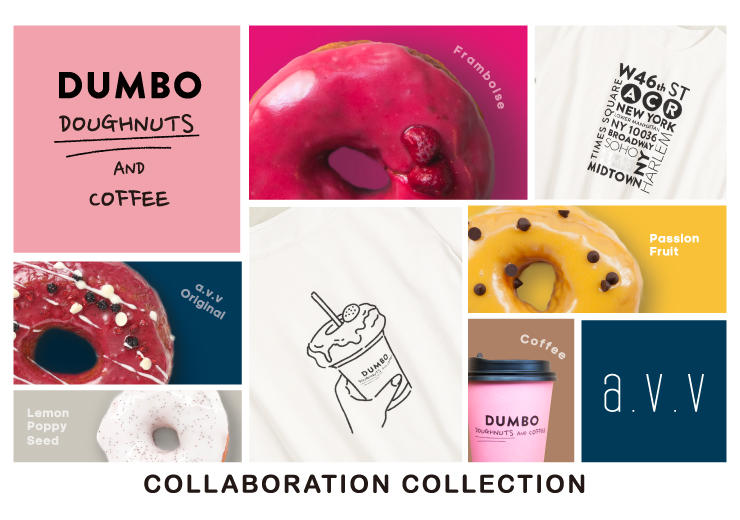 『a.v.v』DUMBO Doughnuts and Coffee × a.v.v~カラフルでポップなコラボレーションコレクションを発売